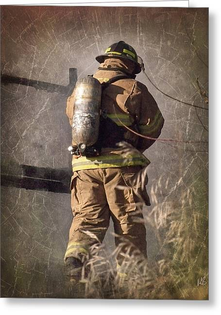 September 11 Greeting Cards - Today He Will Fight Greeting Card by Melissa Smith