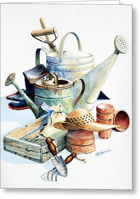 Vegetable Basket Greeting Cards - Todays Toil Tomorrows Pleasure II Greeting Card by Hanne Lore Koehler