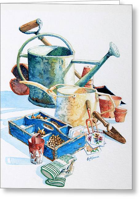 Vegetable Basket Greeting Cards - Todays Toil Tomorrows Pleasure III Greeting Card by Hanne Lore Koehler