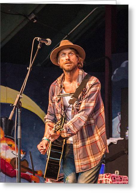 Snider Greeting Cards - Todd Snider Greeting Card by Bill Gallagher