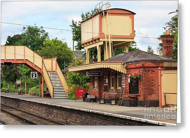 Wark Photographs Greeting Cards - Toddington Railway Station in Gloucestershire Greeting Card by Louise Heusinkveld
