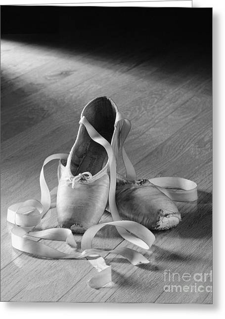 Dancer Photographs Greeting Cards - Toe shoe Greeting Card by Tony Cordoza