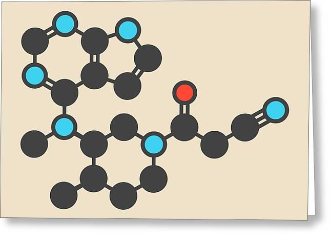 Tofacitinib Molecule Greeting Card by Molekuul