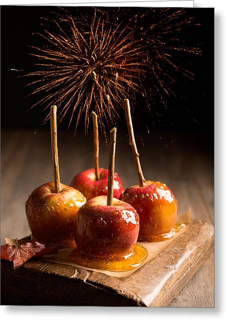 Bonfire Night Greeting Cards - Toffee Apples Group Greeting Card by Amanda And Christopher Elwell