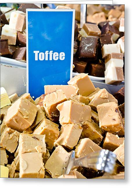 Toffee Greeting Cards - Toffee fudge Greeting Card by Tom Gowanlock