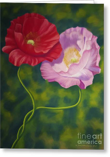 Poppies Home Decor Greeting Cards - Together 3 Greeting Card by Veikko Suikkanen