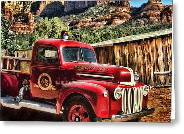 Old Truck Photography Greeting Cards - Together  A Long Time Greeting Card by Robert Albrecht