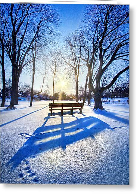 Park Benches Greeting Cards - Together Forever Greeting Card by Phil Koch