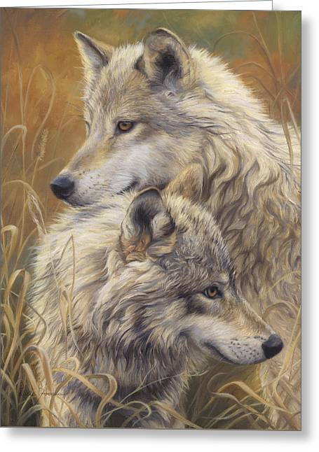 Mammal Greeting Cards - Together Greeting Card by Lucie Bilodeau