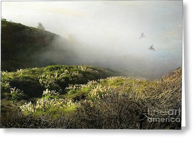 Big Sur Greeting Cards - Together our spirits soar Greeting Card by Ellen Cotton