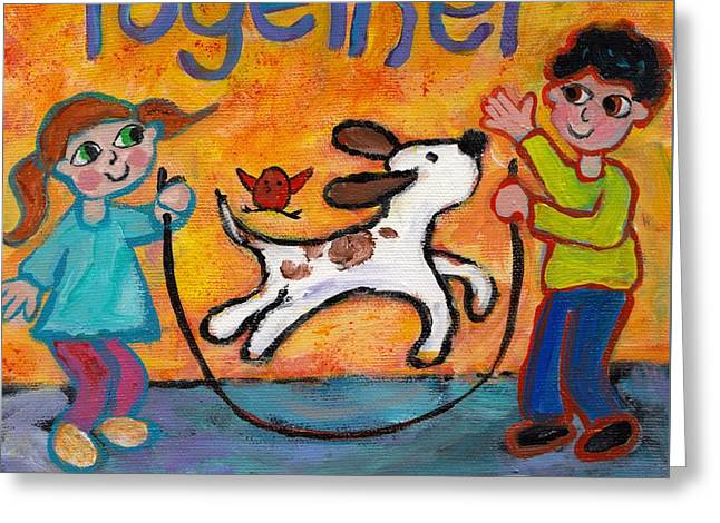 Together Greeting Card by Peggy Johnson