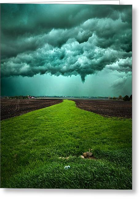 Summer Storm Photographs Greeting Cards - Together We Can Make It Greeting Card by Phil Koch