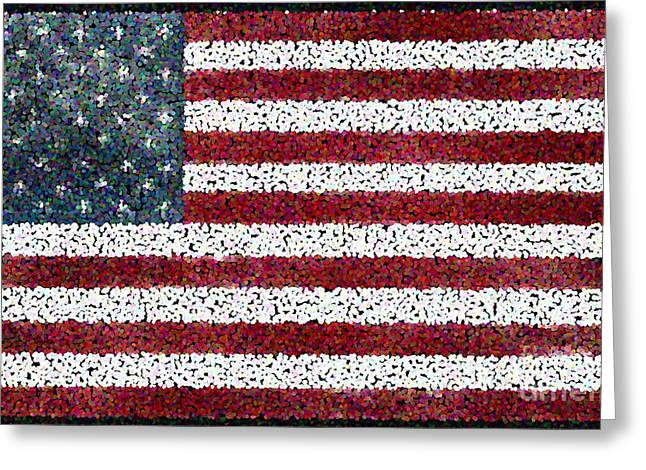Pen And Paper Digital Art Greeting Cards - Together We Make Our Country Awesome. Greeting Card by Cathy Peterson