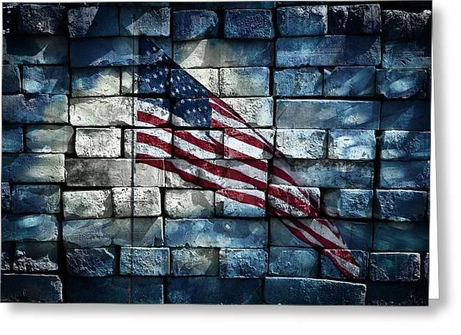 Flag Stone Greeting Cards - Together We Stand Greeting Card by Aaron Berg