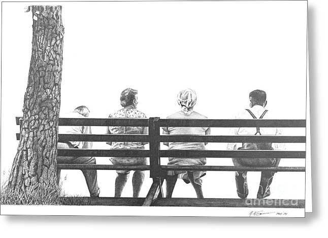 Together Yet Alone Greeting Card by Michael Swanson