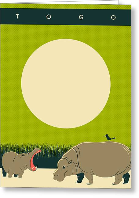 Togo Travel Poster Greeting Card by Jazzberry Blue