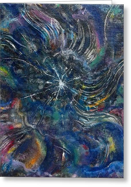 The Void Paintings Greeting Cards - Tohu va vohu Greeting Card by Anne Cameron Cutri