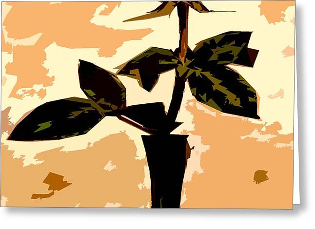 Abstract Vase Flower Print Greeting Cards - Token Of Love Greeting Card by Patrick J Murphy