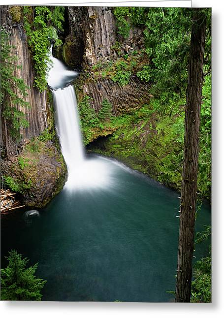 Umpqua River Greeting Cards - Toketee Falls Greeting Card by Greg Nyquist