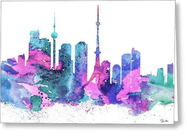 Watercolor! Drawings Greeting Cards - Tokio  Greeting Card by Luke and Slavi
