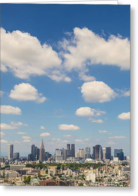 Tokyo Skyline Greeting Cards - Tokyo 31 Greeting Card by Tom Uhlenberg