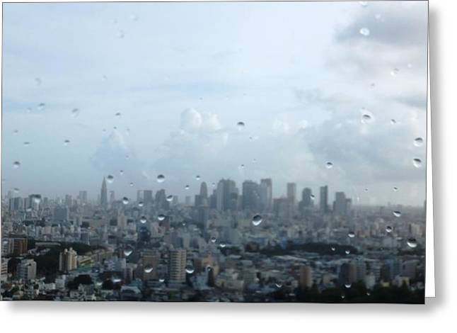Tokyo Skyline Greeting Cards - Tokyo Greeting Card by Sharing His Creation