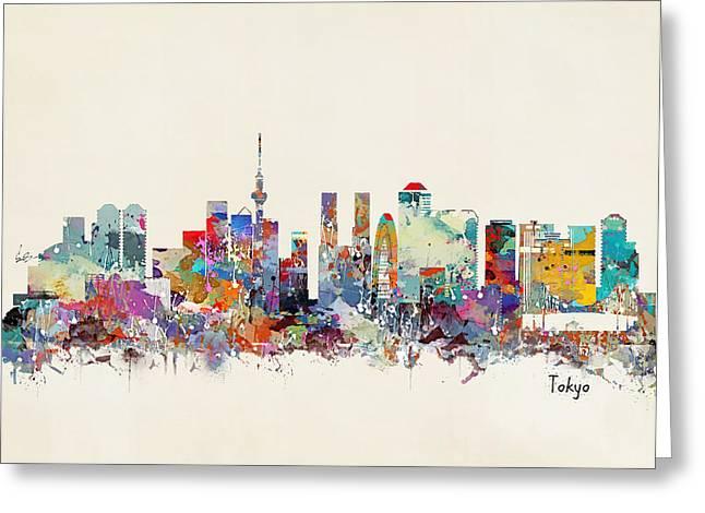 Tokyo Skyine Greeting Card by Bri B