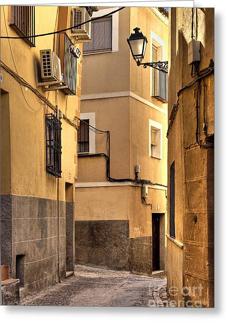 Castilla Greeting Cards - Toledo Alley Greeting Card by John Greim