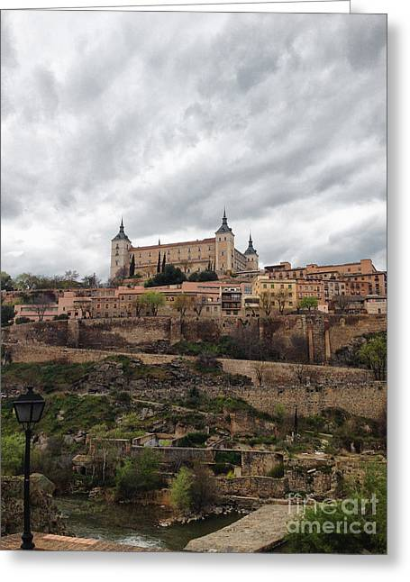 Castile La Mancha Greeting Cards - Toledo Castle Greeting Card by Margie Hurwich