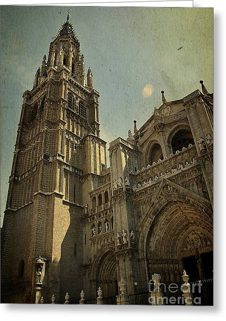 Medieval Temple Greeting Cards - Toledo Cathedral Greeting Card by Ivy Ho