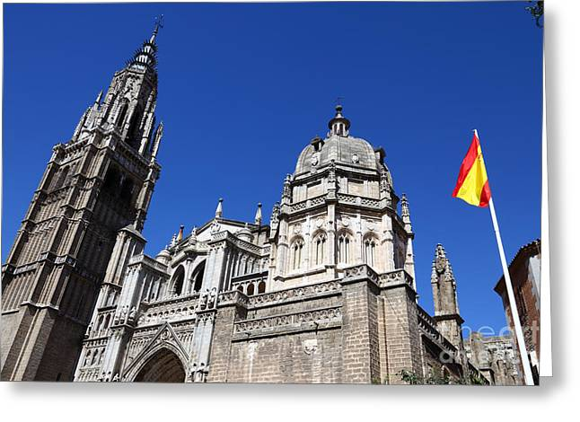 Castile La Mancha Greeting Cards - Toledo Cathedral Greeting Card by James Brunker