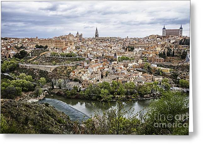 Castile La Mancha Greeting Cards - Toledo Cityscape Greeting Card by Margie Hurwich