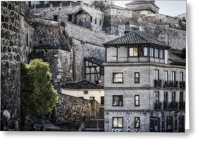 Historic Home Greeting Cards - Toledo Hillside Greeting Card by Joan Carroll