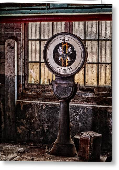 Abandonment Greeting Cards - Toledo No Springs Scale Greeting Card by Susan Candelario
