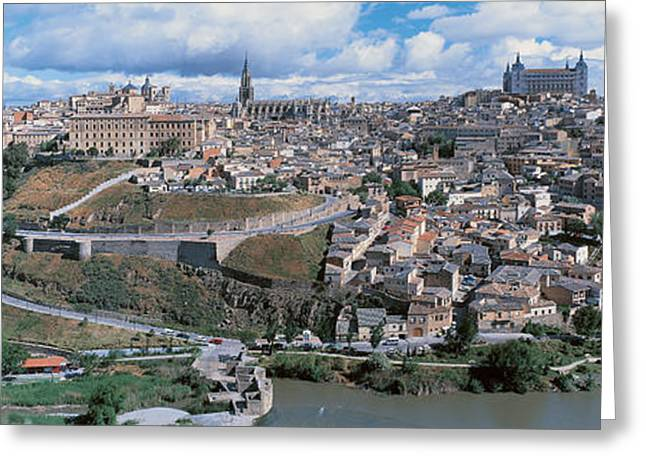 Overcast Day Greeting Cards - Toledo Spain Greeting Card by Panoramic Images