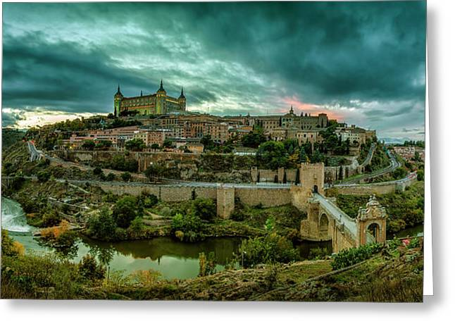 Toledo - The City Of The Three Cultures Greeting Card by Pedro Jarque