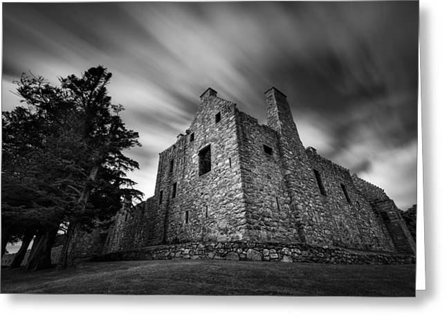 Historical Buildings Photographs Greeting Cards - Tolquhon Castle Greeting Card by Dave Bowman