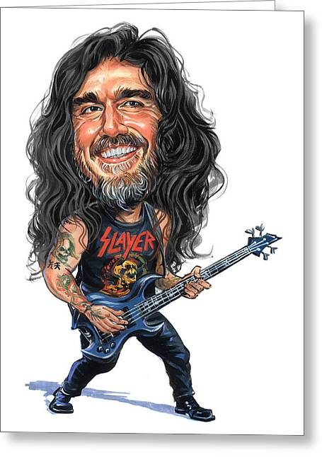 Famous Person Greeting Cards - Tom Araya Greeting Card by Art