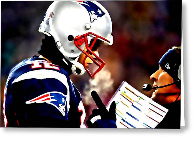 Endzone Greeting Cards - Go For the Big One Greeting Card by Brian Reaves