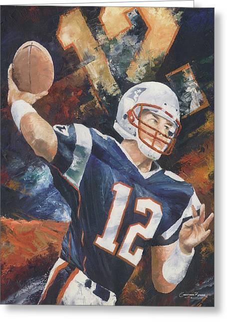 Christiaan Bekker Greeting Cards - Tom Brady Greeting Card by Christiaan Bekker