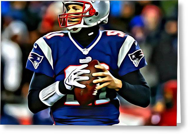 Tom Brady Greeting Card by Florian Rodarte