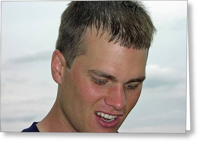 Tom Brady Greeting Card by Mike Martin