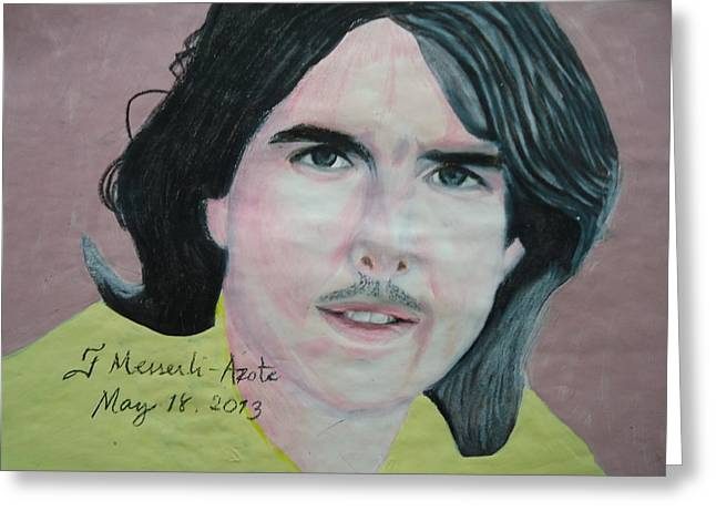 Tom Boy Drawings Greeting Cards - Tom Cruise 01 Greeting Card by Fladelita Messerli-