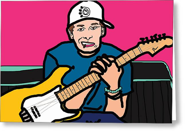 Cute Sexy Greeting Cards - Tom Delonge Greeting Card by Jera Sky