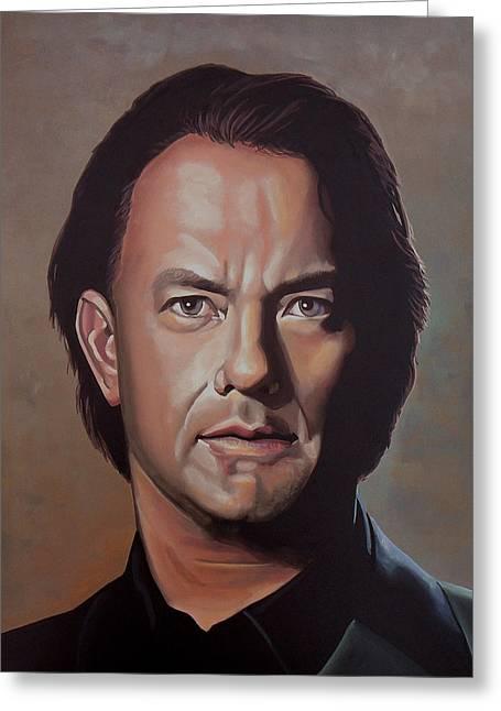 Hank Greeting Cards - Tom Hanks Greeting Card by Paul Meijering