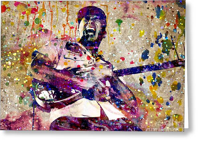 Street Sweeper Greeting Cards - Tom Morello Original Greeting Card by Ryan RockChromatic
