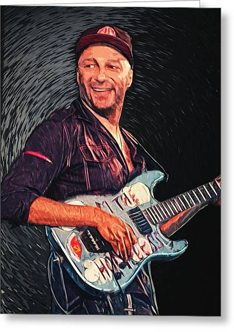 Cypress Hills Greeting Cards - Tom Morello Greeting Card by Taylan Soyturk