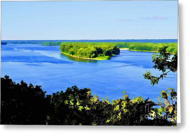 Huckleberry Digital Art Greeting Cards - Tom Sawyers Lookout Greeting Card by Luther   Fine Art