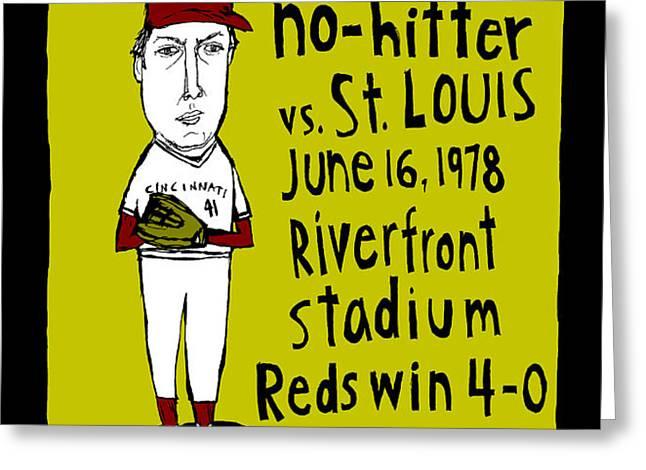 Tom Seaver Cincinnati Reds Greeting Card by Jay Perkins