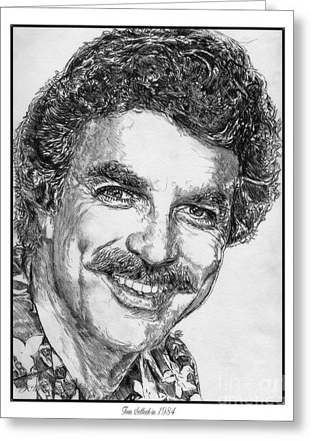 Jesse Stone Greeting Cards - Tom Selleck in 1984 Greeting Card by J McCombie